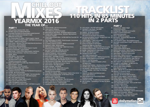 Chill Out Mixes YEARMIX 2016 - Tracklist